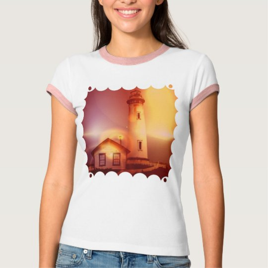 Vintage Lighthouse Ladies T-Shirt