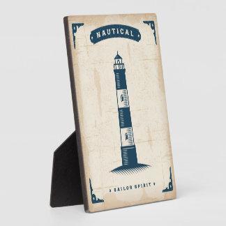 Vintage Lighthouse Poster 1 Plaque