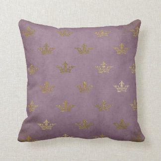 Vintage Lilac Crown Gold Princess Baby Pillow