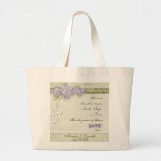 Vintage Lilac Hydrangea - Bride s Get Away Bag