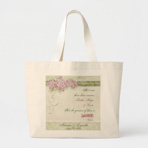 Vintage Lilac Hydrangea - Bride's Get Away Bag