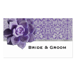 Vintage Lilac Succulent Place Cards Double-Sided Standard Business Cards (Pack Of 100)