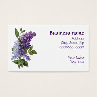 Vintage Lilacs Business Card