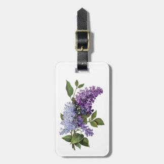 Vintage Lilacs Luggage Tag