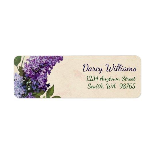 Vintage Lilacs Return Address labels