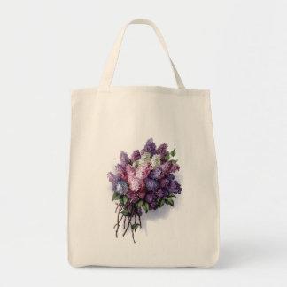 Vintage Lilacs Reusable Tote Bag