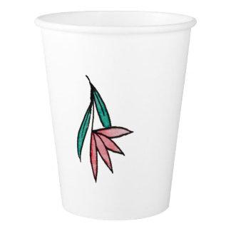Vintage Lilies Paper Cups