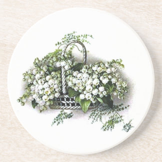 Vintage Lily of the Valley Coaster