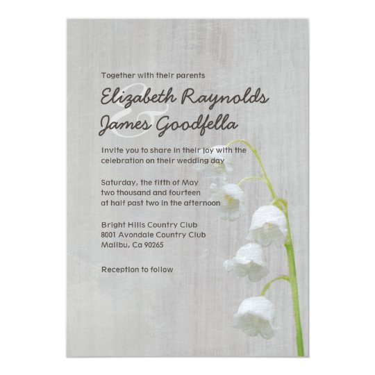 Vintage Lily of the Valley Wedding Invitations