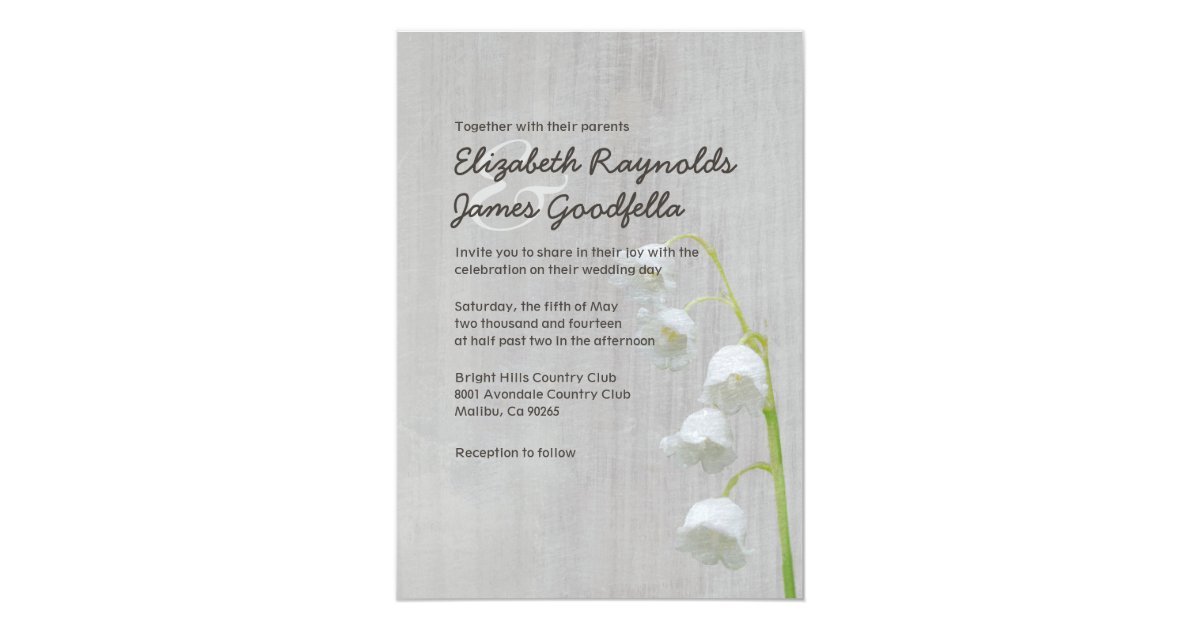 Vintage Lily of the Valley Wedding Invitations | Zazzle.co.uk