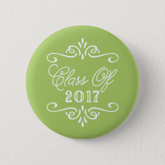 Vintage Lime Green | Graduation 6 Cm Round Badge