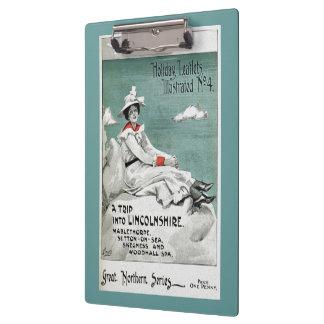 Vintage Lincolnshire, UK, Holiday Leaflet Clipboards