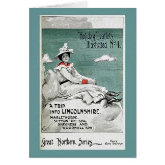 Vintage Lincolnshire, UK, Holiday Leaflet Greeting Card
