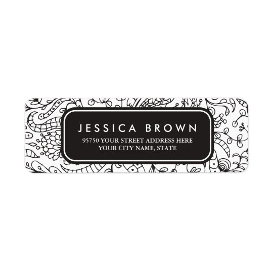 Vintage line art custom return address label