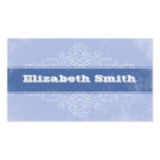 Vintage Lines Business Card Blue