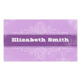 Vintage Lines Business Card Purple