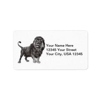 Vintage Lion Address Labels