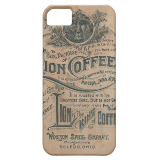 Vintage Lion Coffee Advertisement iPhone 5 Case