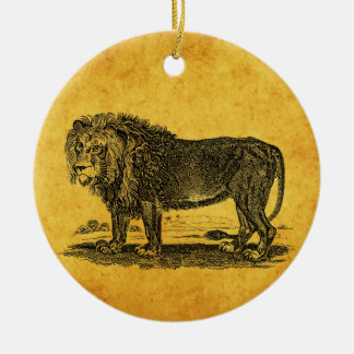 Vintage Lion Illustration - 1800's African Animal Christmas Ornament