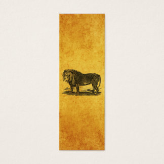 Vintage Lion Illustration - 1800's African Animal Mini Business Card