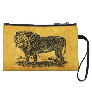 Vintage Lion Illustration -1800's African Animal Wristlet