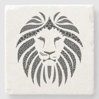 Vintage Lion Illustration Stone Stone Beverage Coaster