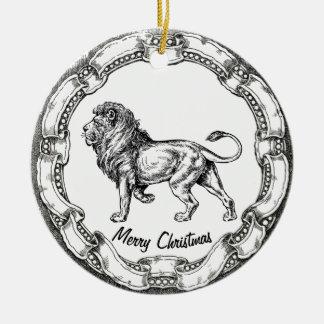 Vintage Lion Personalize Christmas Ornament
