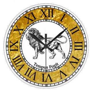 Vintage Lion Personalize Large Clock
