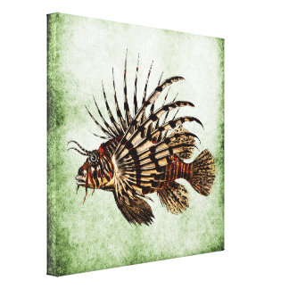 Vintage Lionfish Art Print No.2B
