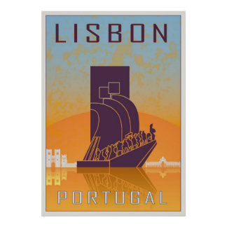 Vintage Lisbon poster