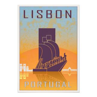 Vintage Lisbon poster Photo Print