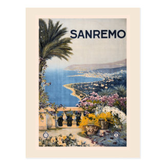 Vintage Litho Travel ad Sanremo Italy Postcards