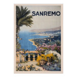Vintage Litho Travel ad Sanremo Italy Posters