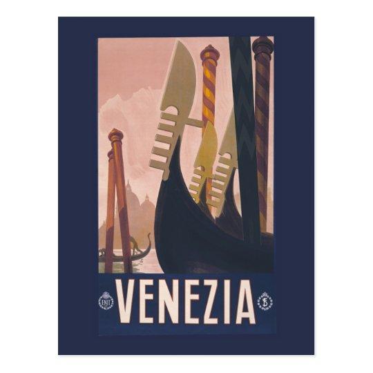 Vintage Litho Travel ad Venice Italy Postcard