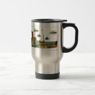 Vintage Lithograph British Ocean Liner RMS Caronia Mug