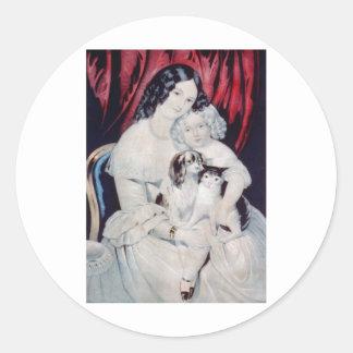 Vintage Lithograph Portrait Stickers