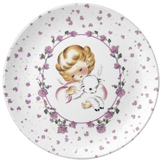 Vintage Little Angel Easter Gift Porcelain Plates