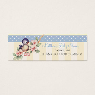Vintage Little Bird Baby Shower Custom Favor Tag Mini Business Card