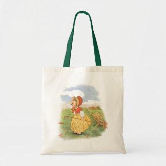 Vintage Little Bo Peep Mother Goose Nursery Rhyme Budget Tote Bag