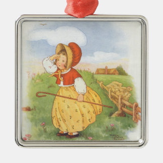 Vintage Little Bo Peep Mother Goose Nursery Rhyme Christmas Ornament