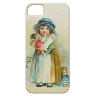 Vintage Little Girl Chubby Cheeks Hat Dolls iPhone 5 Cover