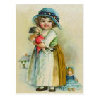 Vintage Little Girl Chubby Cheeks Hat Dolls Postcard
