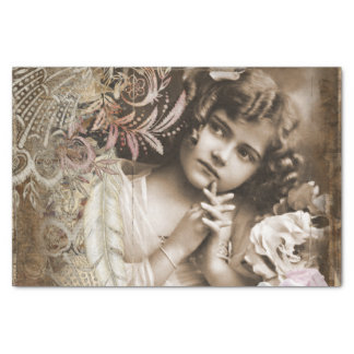 Vintage Little Girl Tissue Paper