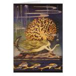 Vintage Little Mermaid Ocean Coral Fairy Tale Cards