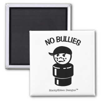 Vintage Little People Bully Tough Kid - No Bullies Square Magnet