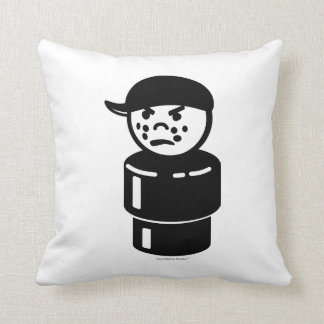 Vintage Little People Tough Kid Bully (Reversible) Throw Pillows