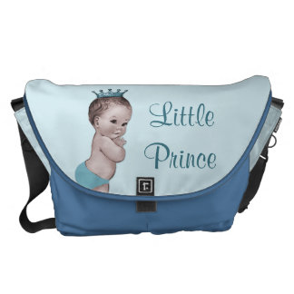Vintage Little Prince Baby Blue Diaper Bag Courier Bag