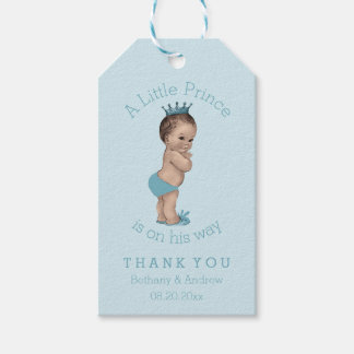 Vintage Little Prince Baby Shower Personalized Gift Tags
