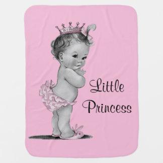 Vintage Little Princess Baby Pink Baby Blanket