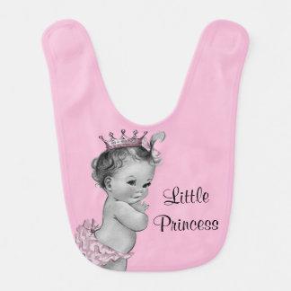 Vintage Little Princess Baby Pink Bib
